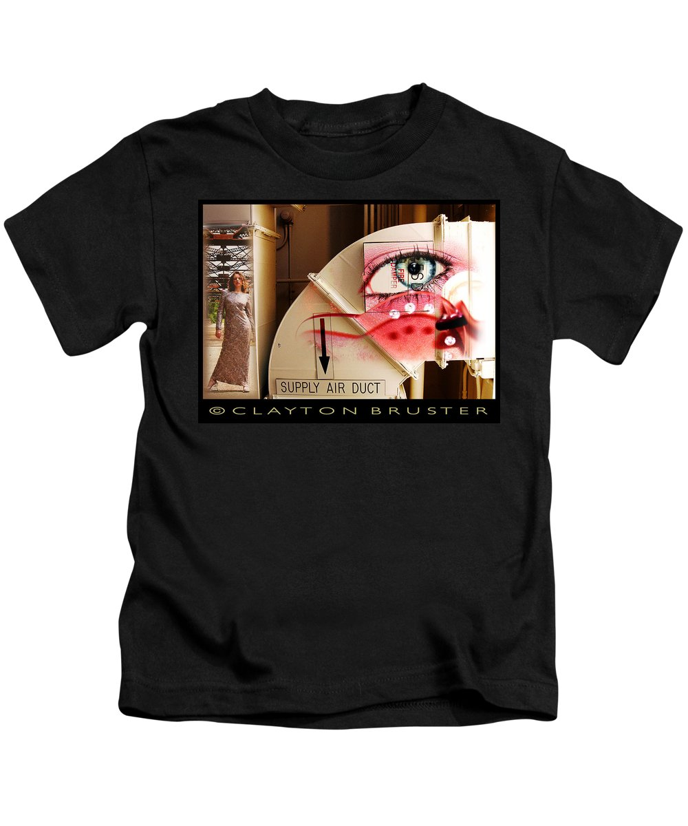 Kids T-Shirt featuring the photograph Industrial Ceiling Dreams by Clayton Bruster