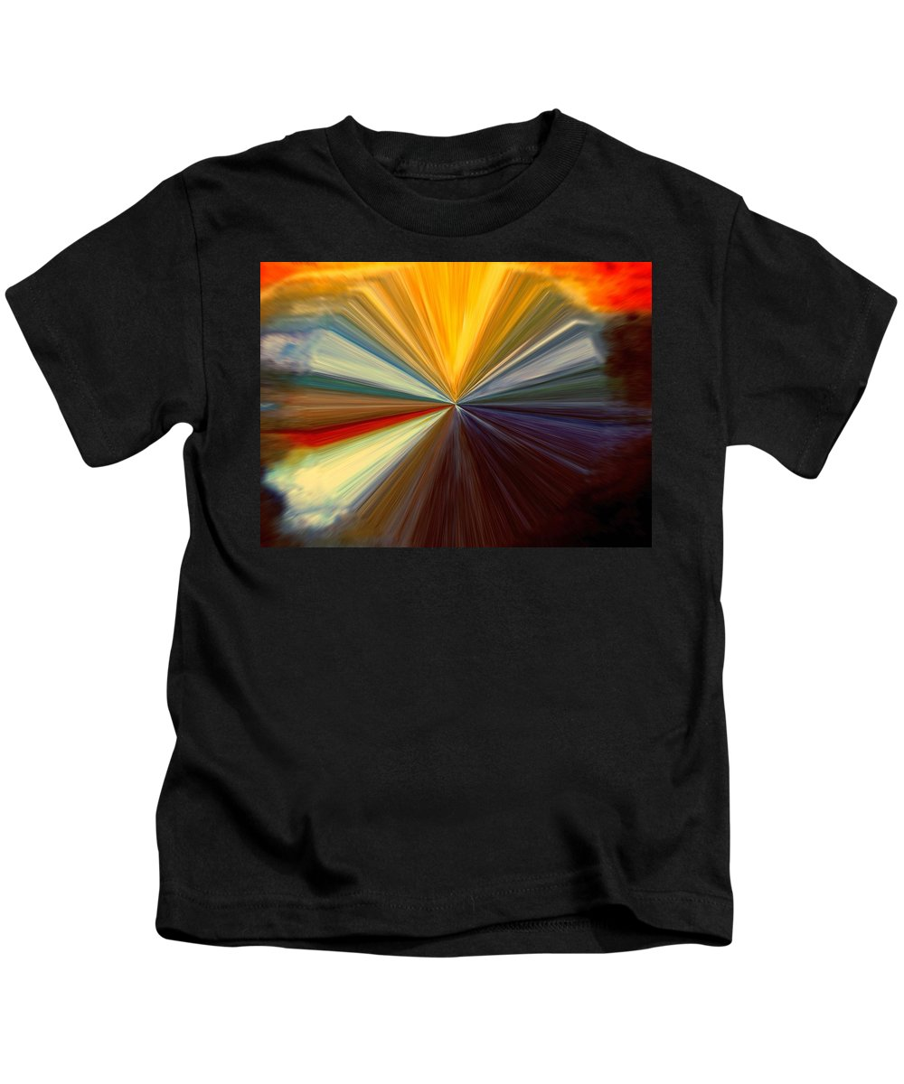 Abstract Kids T-Shirt featuring the digital art Infinity by Melvin Moon