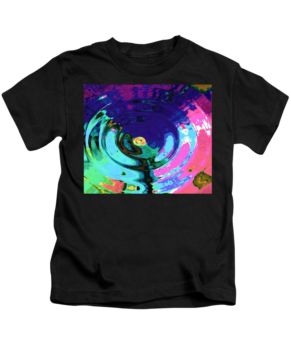 Blue Kids T-Shirt featuring the digital art Infinity by Natalie Holland