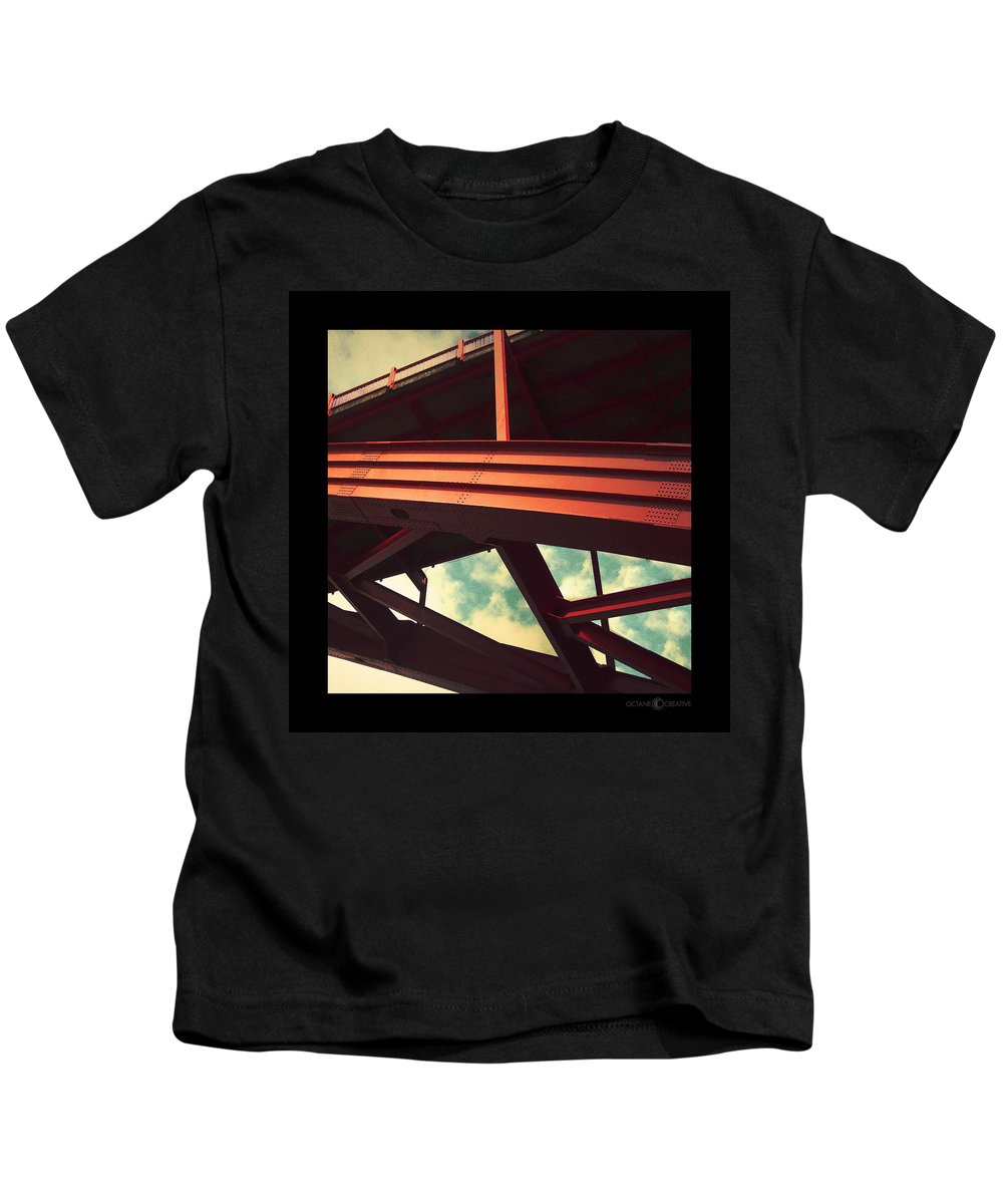 Bridge Kids T-Shirt featuring the photograph Infrastructure by Tim Nyberg