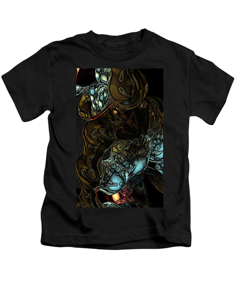Abstract Kids T-Shirt featuring the digital art Inner Being by David Lane