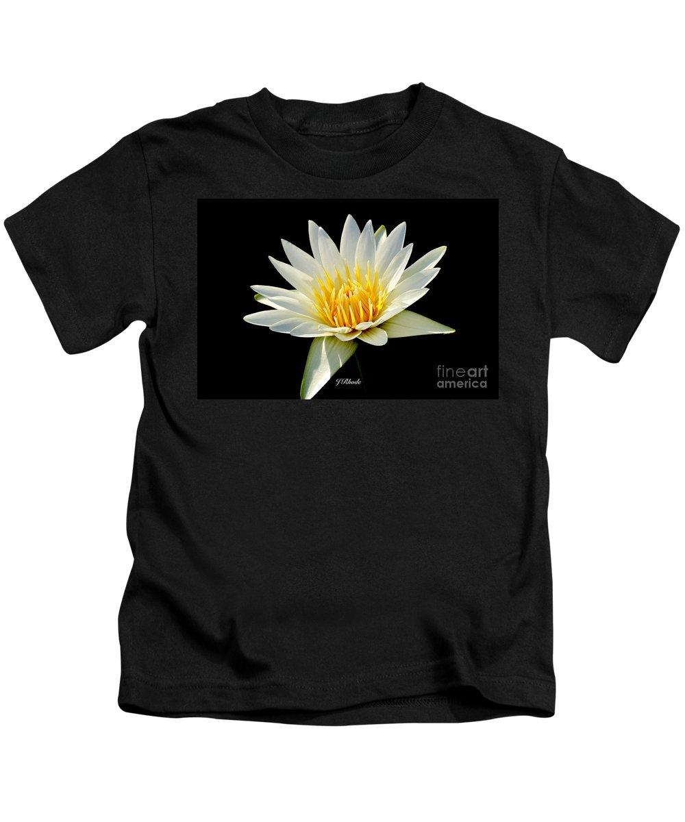 Tropical Day-flowering Water Lily Kids T-Shirt featuring the photograph Innocence by Jeannie Rhode