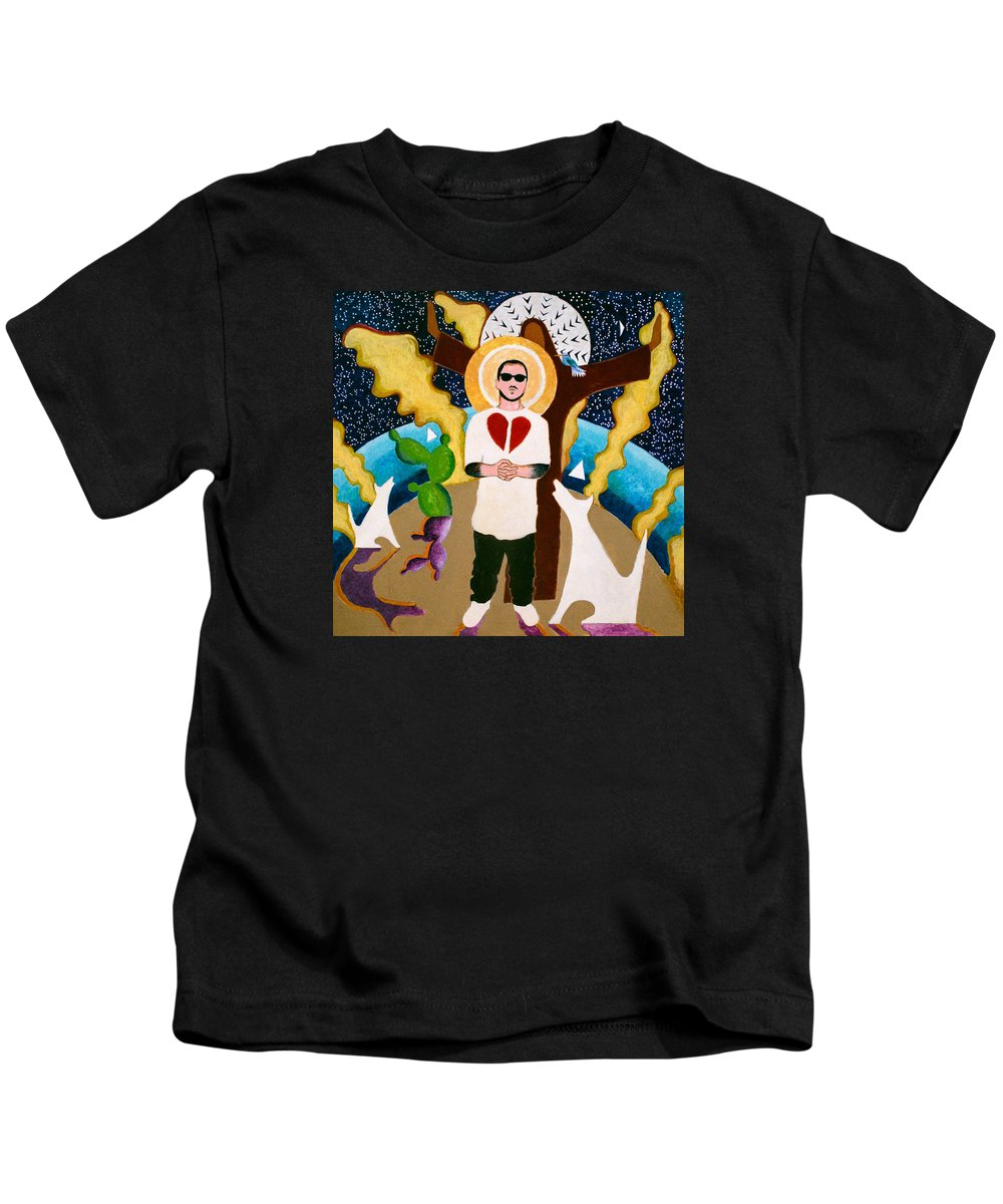 Broken Heart Kids T-Shirt featuring the painting Innocent by Sharron Loree