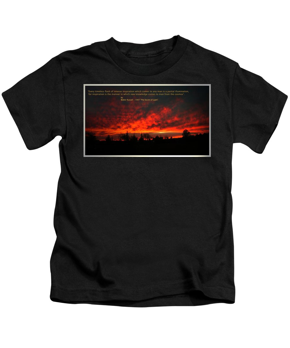Inspiration Kids T-Shirt featuring the photograph Inspiration by Joyce Dickens