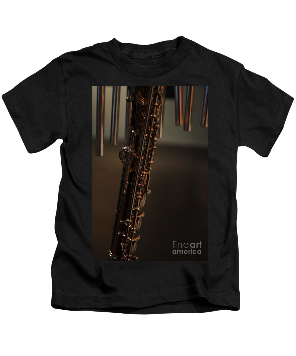 Music Kids T-Shirt featuring the photograph Instrument Of Piece by Paulette B Wright
