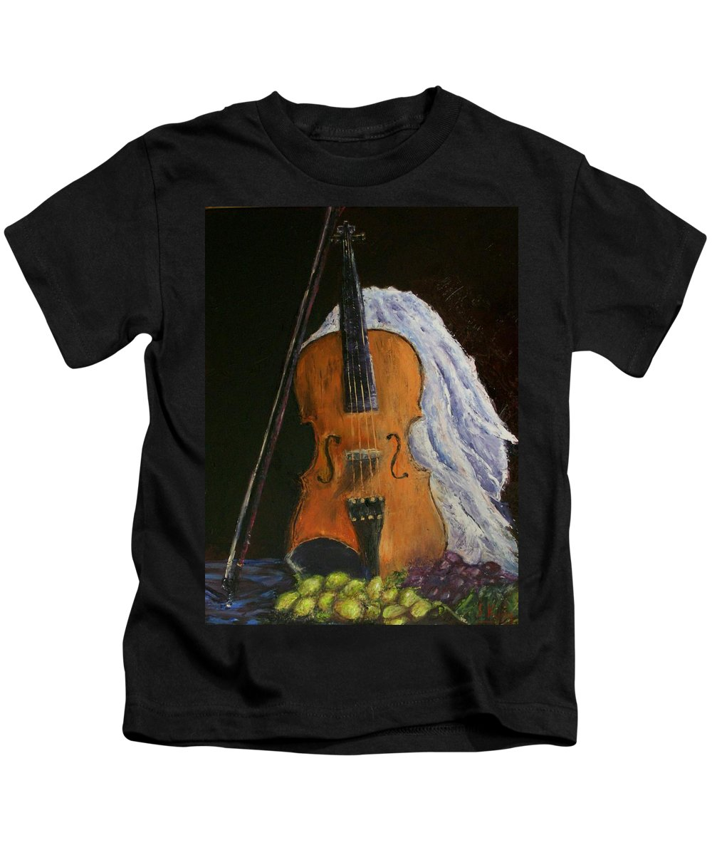Original Kids T-Shirt featuring the painting Intermission by Stephen King