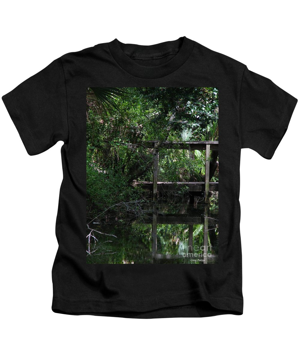 Woods Kids T-Shirt featuring the photograph Into Green by Greg Patzer