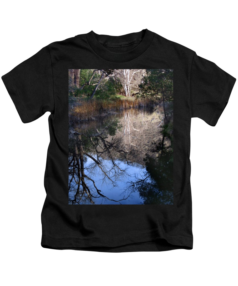 Landscape Kids T-Shirt featuring the photograph Into The Light by Karen W Meyer