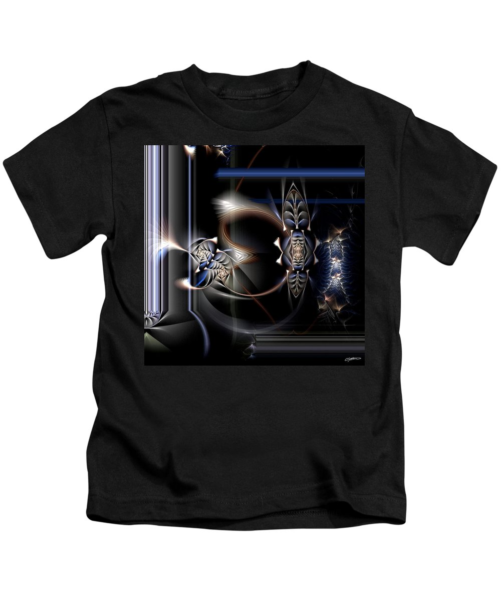 Abstract Kids T-Shirt featuring the digital art Intonations Of The Future by Casey Kotas