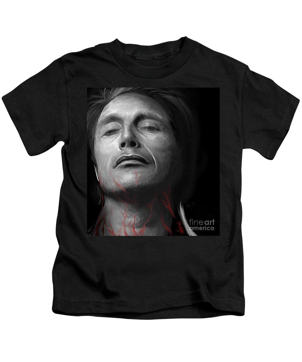 Mads Mikkelsen Kids T-Shirt featuring the digital art Intravenous by Dori Hartley