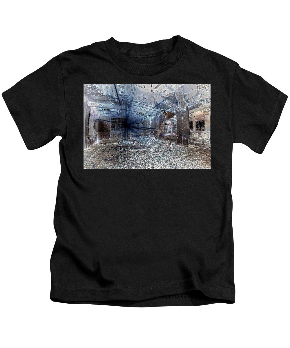 Invert Kids T-Shirt featuring the digital art Invert Sunlights by Ivan Angelovski