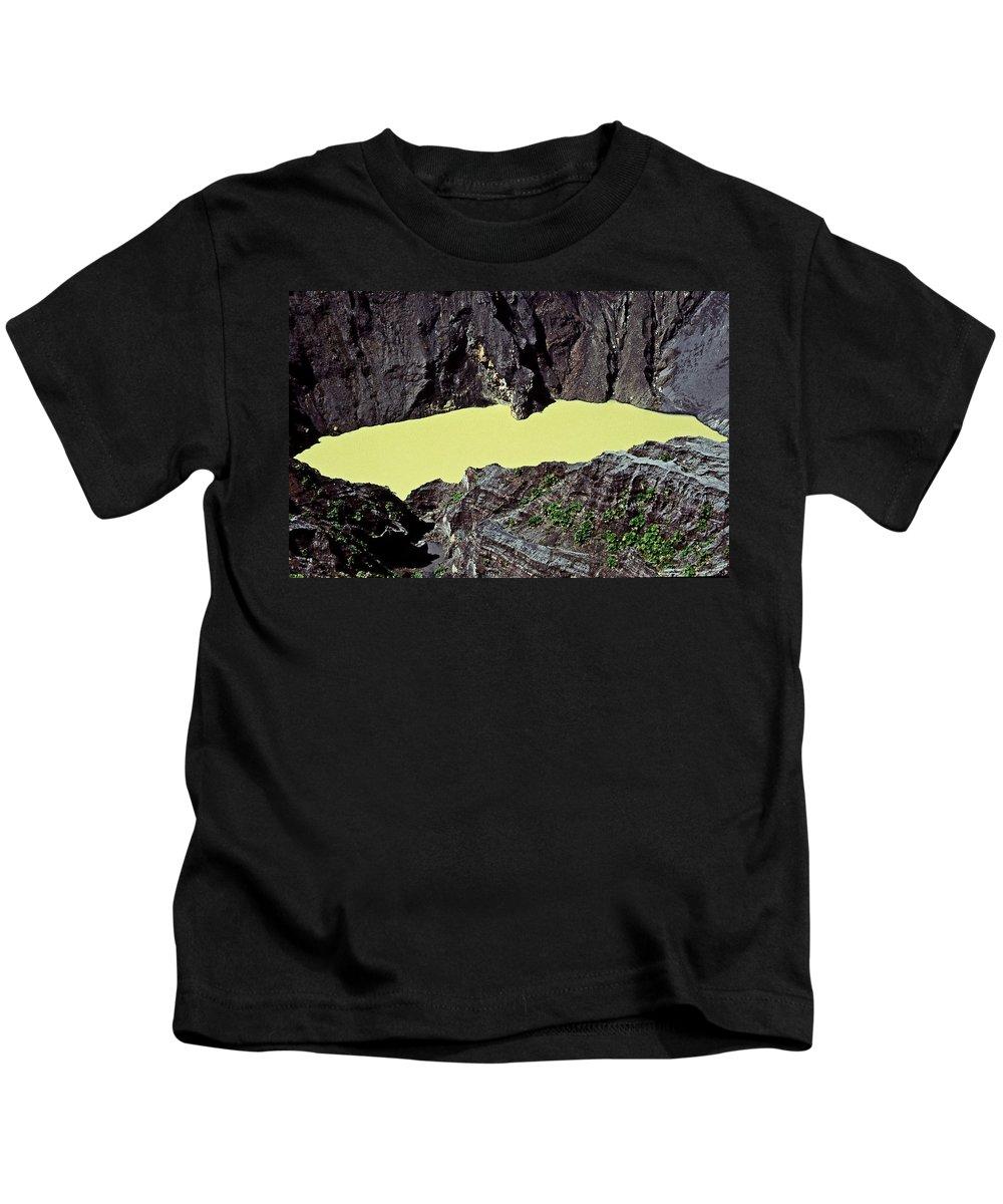 Central America Kids T-Shirt featuring the photograph Irazu Volcano - Costa Rica by Juergen Weiss