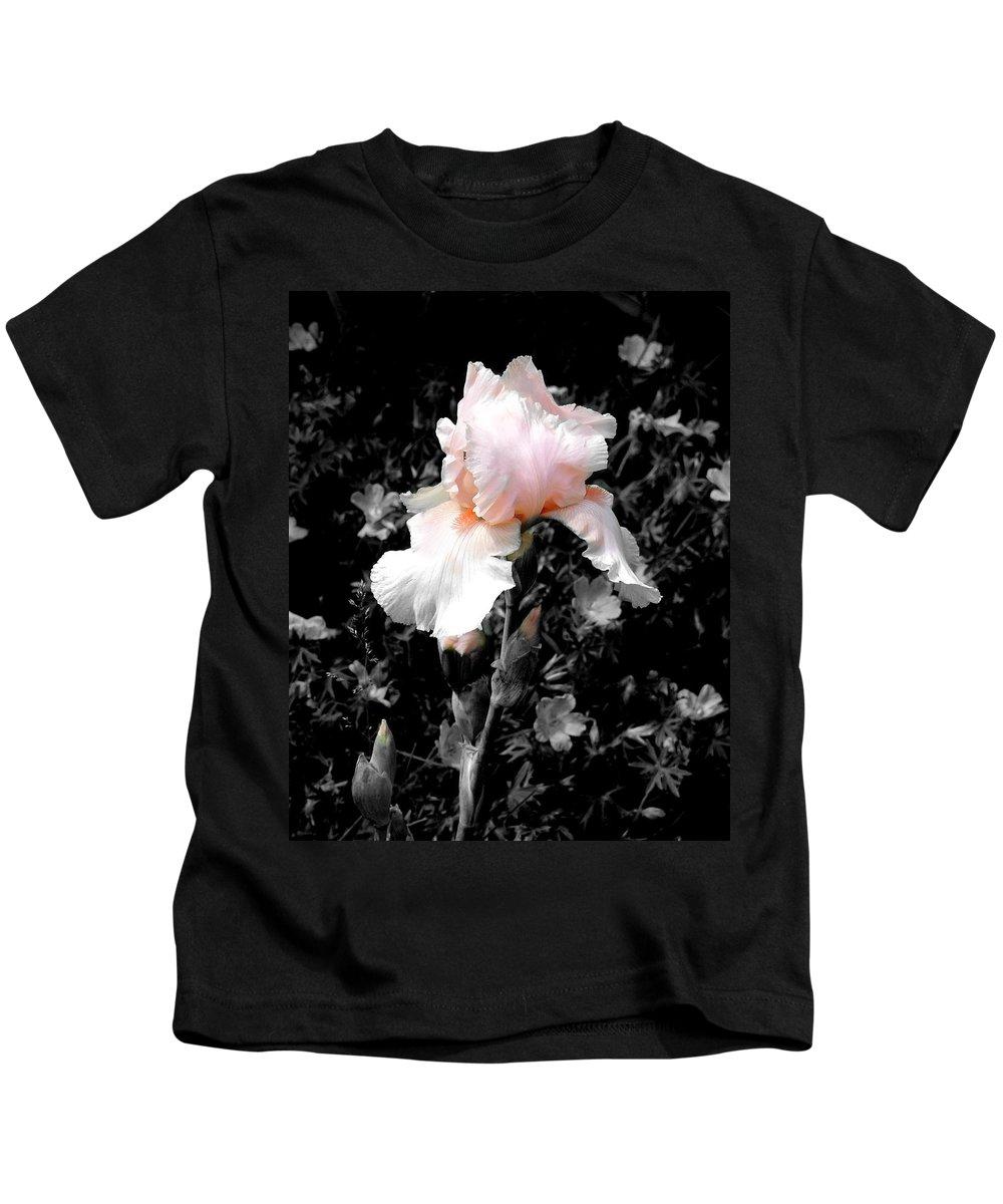 Flower Kids T-Shirt featuring the photograph Iris Emergance by Steve Karol