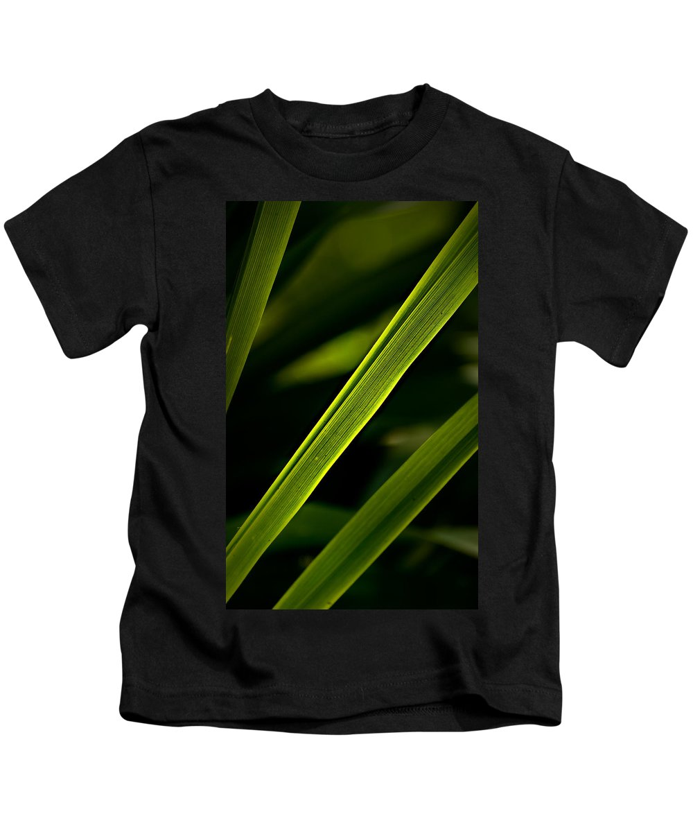 Garden Kids T-Shirt featuring the photograph Iris Leaves by Onyonet Photo Studios