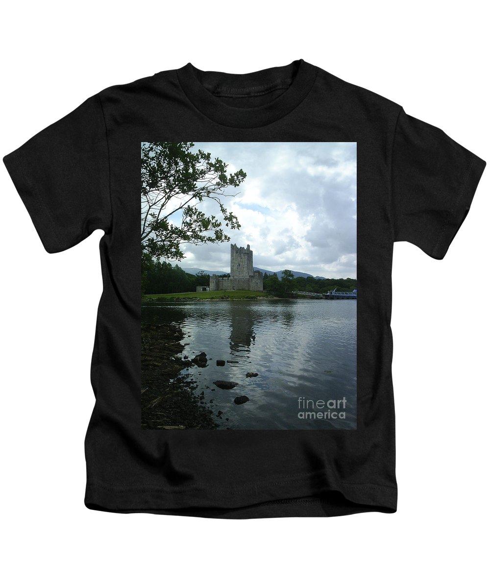Castle Kids T-Shirt featuring the photograph Irish Castle by Paul Maher