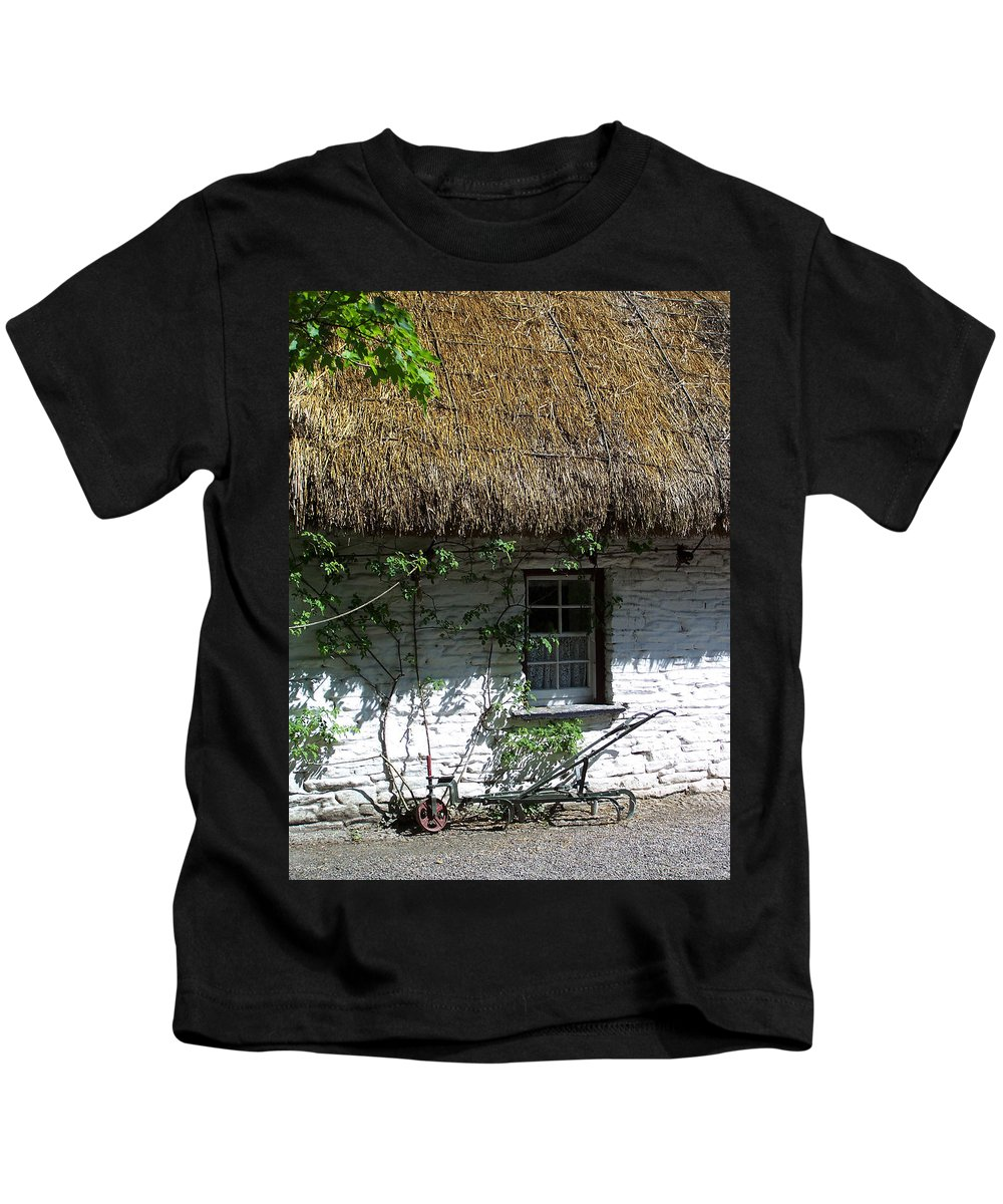 Irish Kids T-Shirt featuring the photograph Irish Farm Cottage Window County Cork Ireland by Teresa Mucha