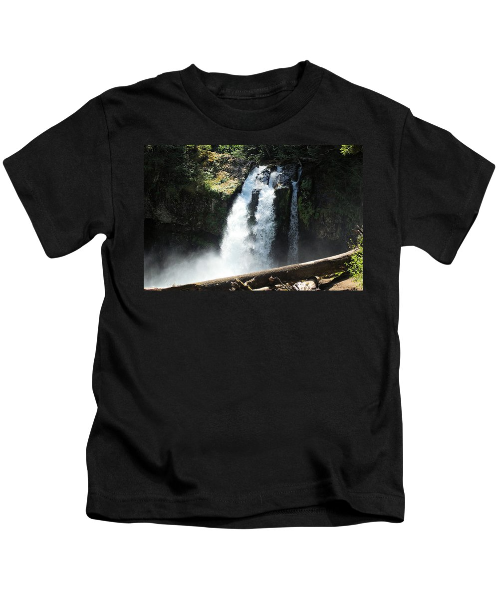 Waterfalls Kids T-Shirt featuring the photograph Ironhead Falls by Jeff Swan