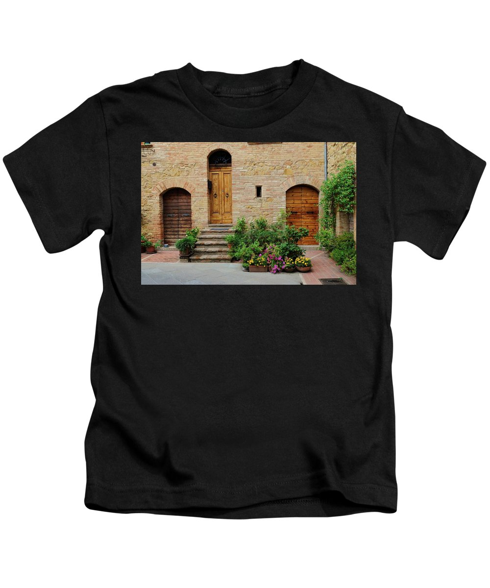 Europe Kids T-Shirt featuring the photograph Italy - Door Eight by Jim Benest