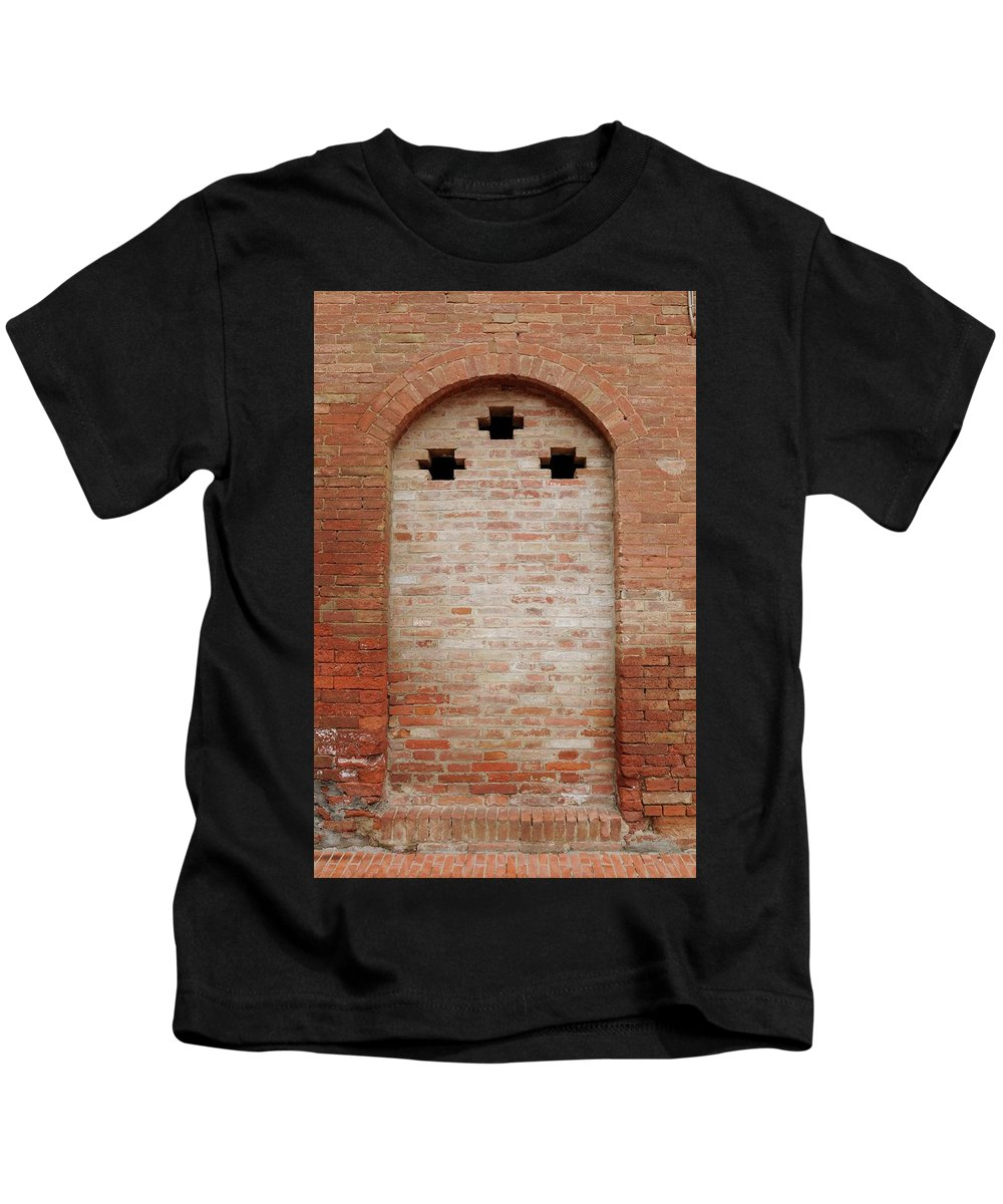 Europe Kids T-Shirt featuring the photograph Italy - Door Fourteen by Jim Benest