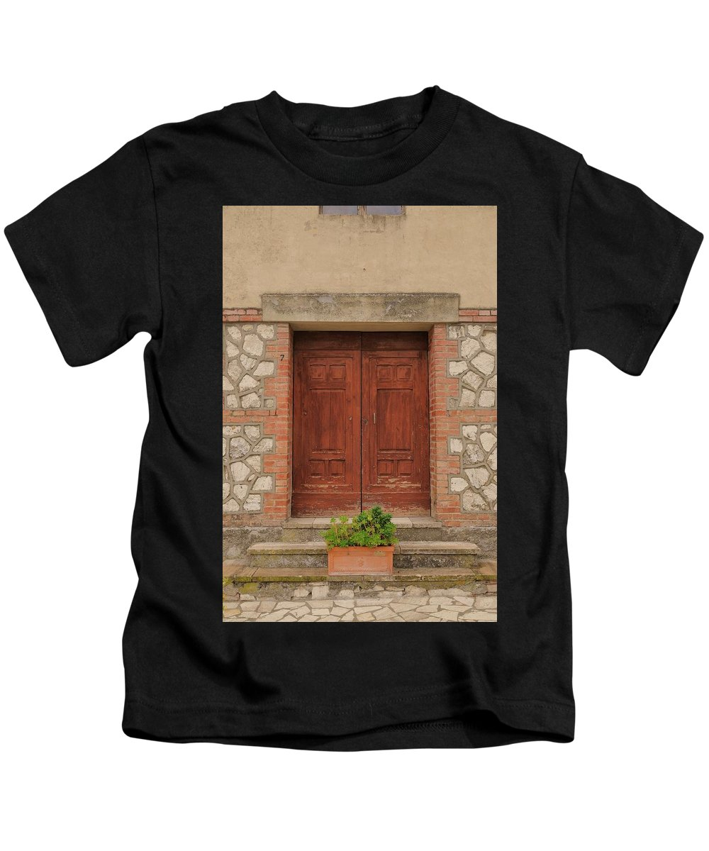 Italy Kids T-Shirt featuring the photograph Italy Door - Twenty Six by Jim Benest