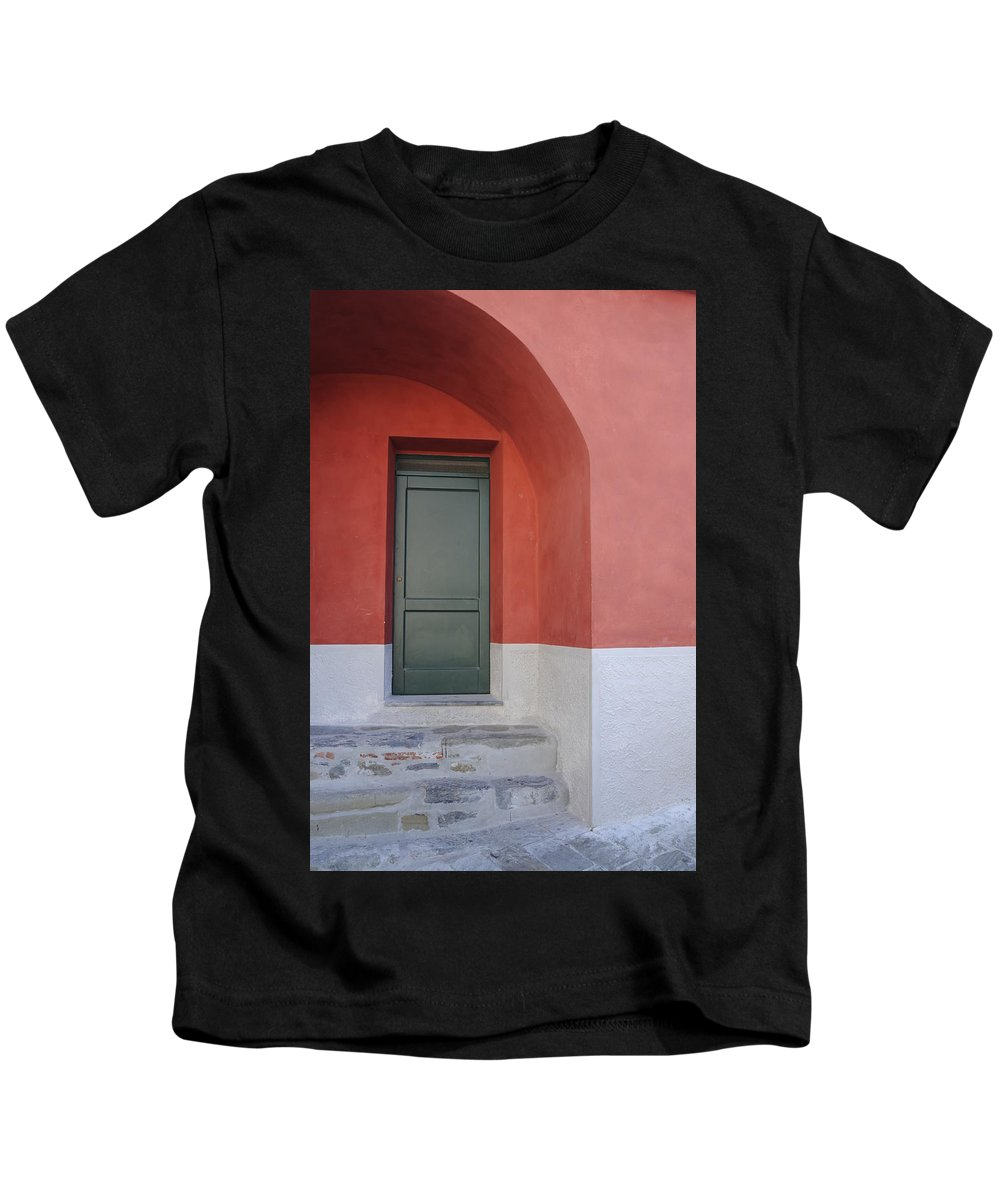 Europe Kids T-Shirt featuring the photograph Italy - Door Two by Jim Benest