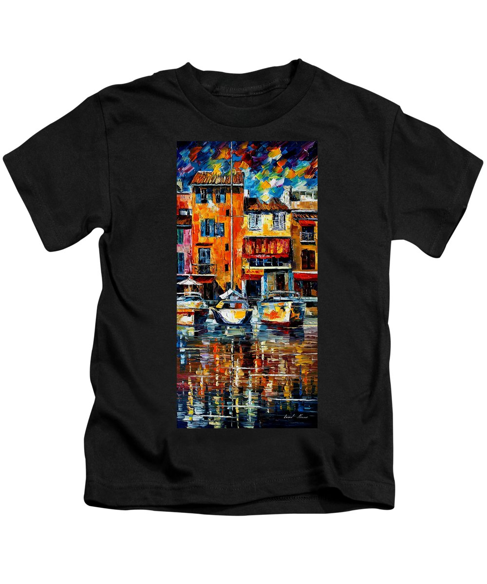 City Kids T-Shirt featuring the painting Italy Venice by Leonid Afremov