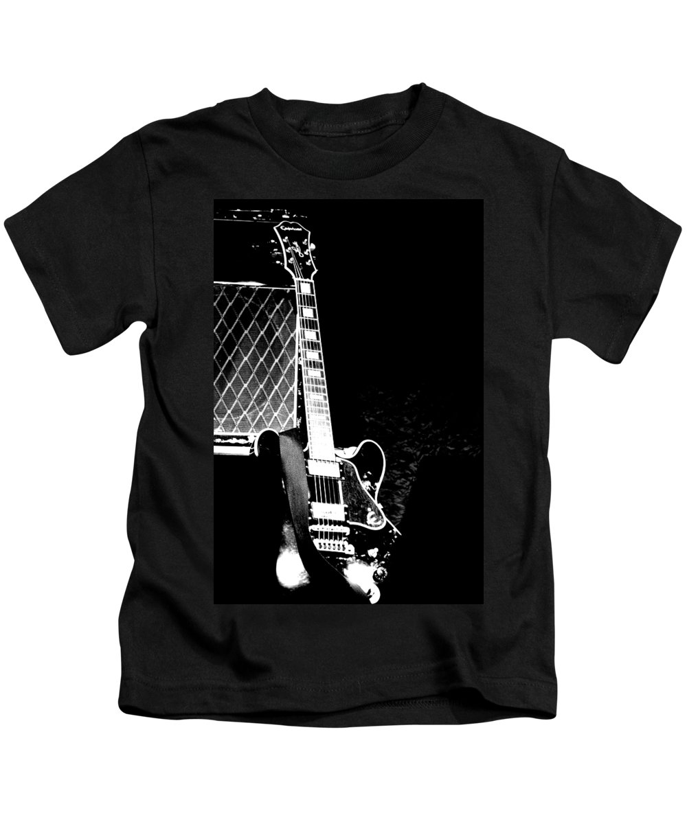 Guitar Kids T-Shirt featuring the photograph Its All Rock N Roll by Traci Cottingham