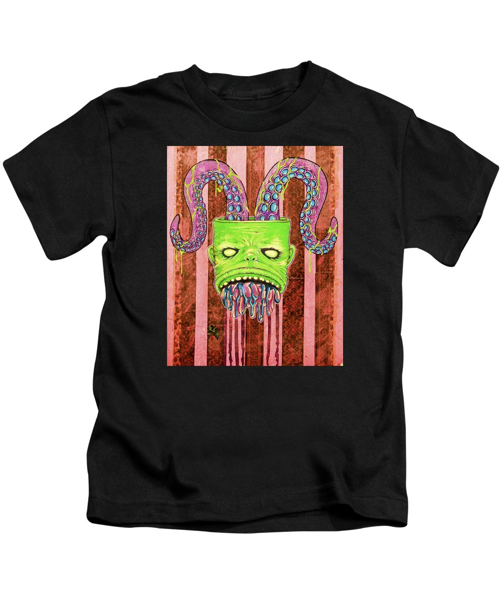 Obey Kids T-Shirt featuring the painting I've Such Things To Show You by Bobby Zeik