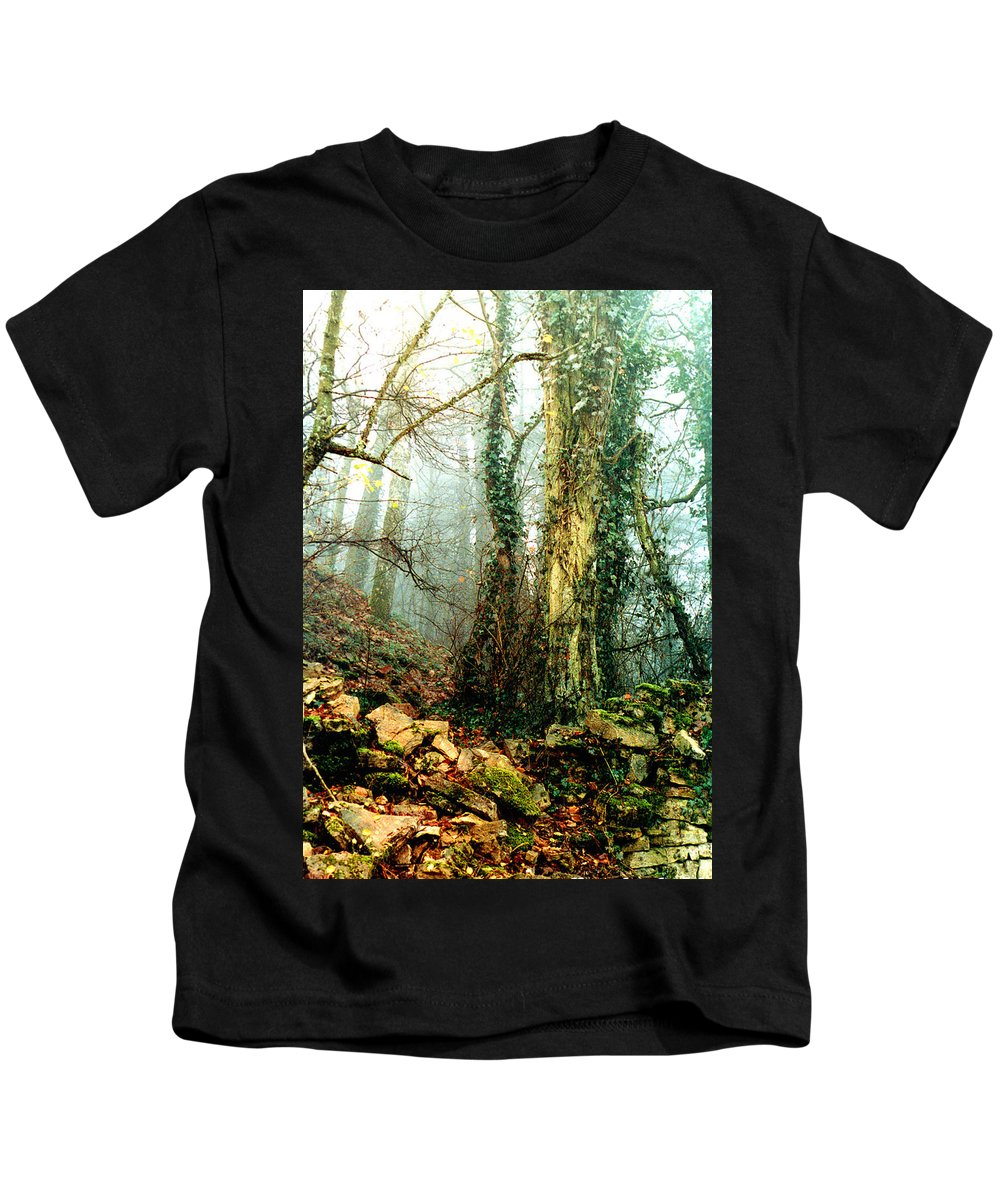 Ivy Kids T-Shirt featuring the photograph Ivy In The Woods by Nancy Mueller
