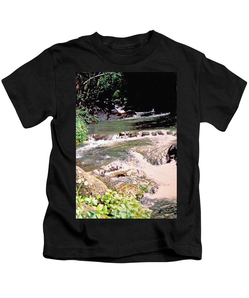 Jamaica Kids T-Shirt featuring the photograph Jamaica Rushing Water by Ian MacDonald