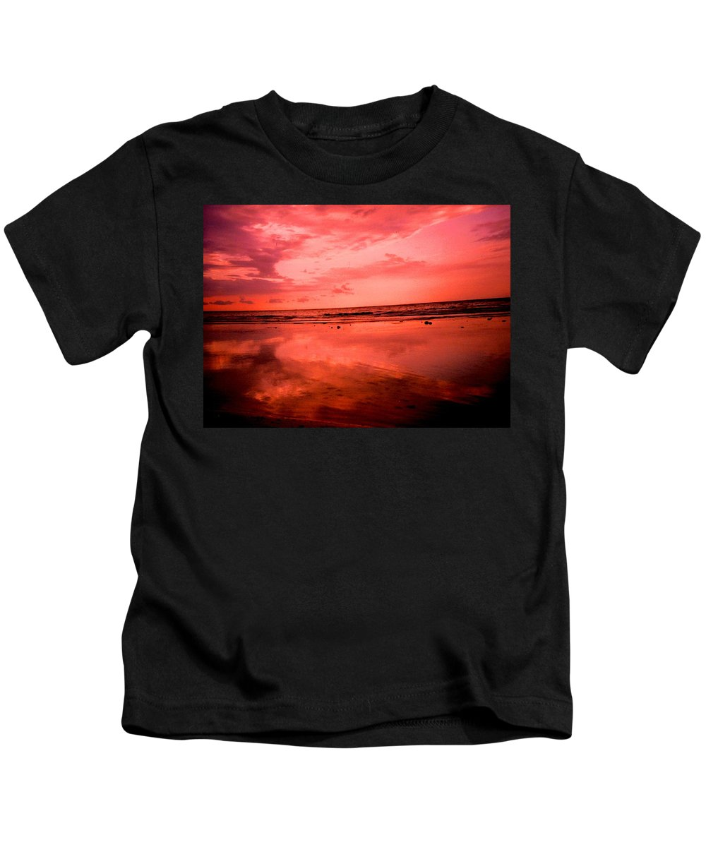 Sunset Kids T-Shirt featuring the photograph Jamaica Sunset by Ian MacDonald