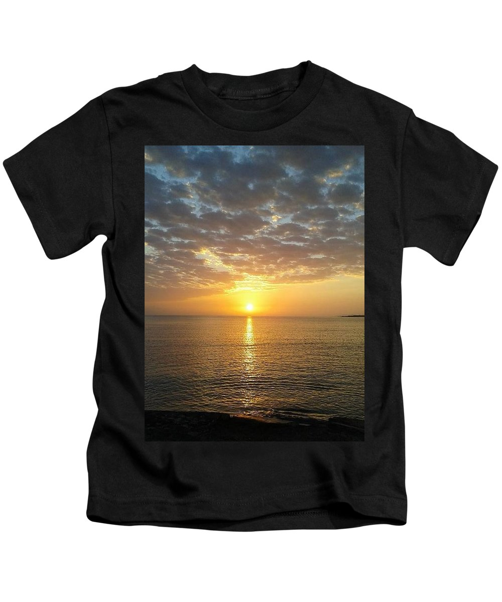 Sunset Kids T-Shirt featuring the photograph Jamaican Sunset by Geary Jones