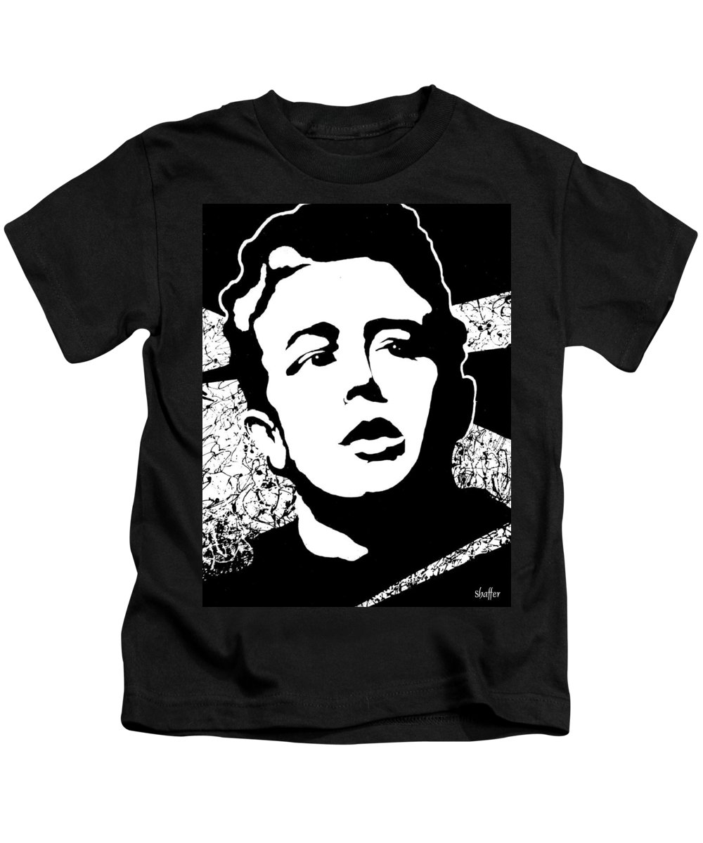 James Dean Kids T-Shirt featuring the painting James Dean by Curtiss Shaffer