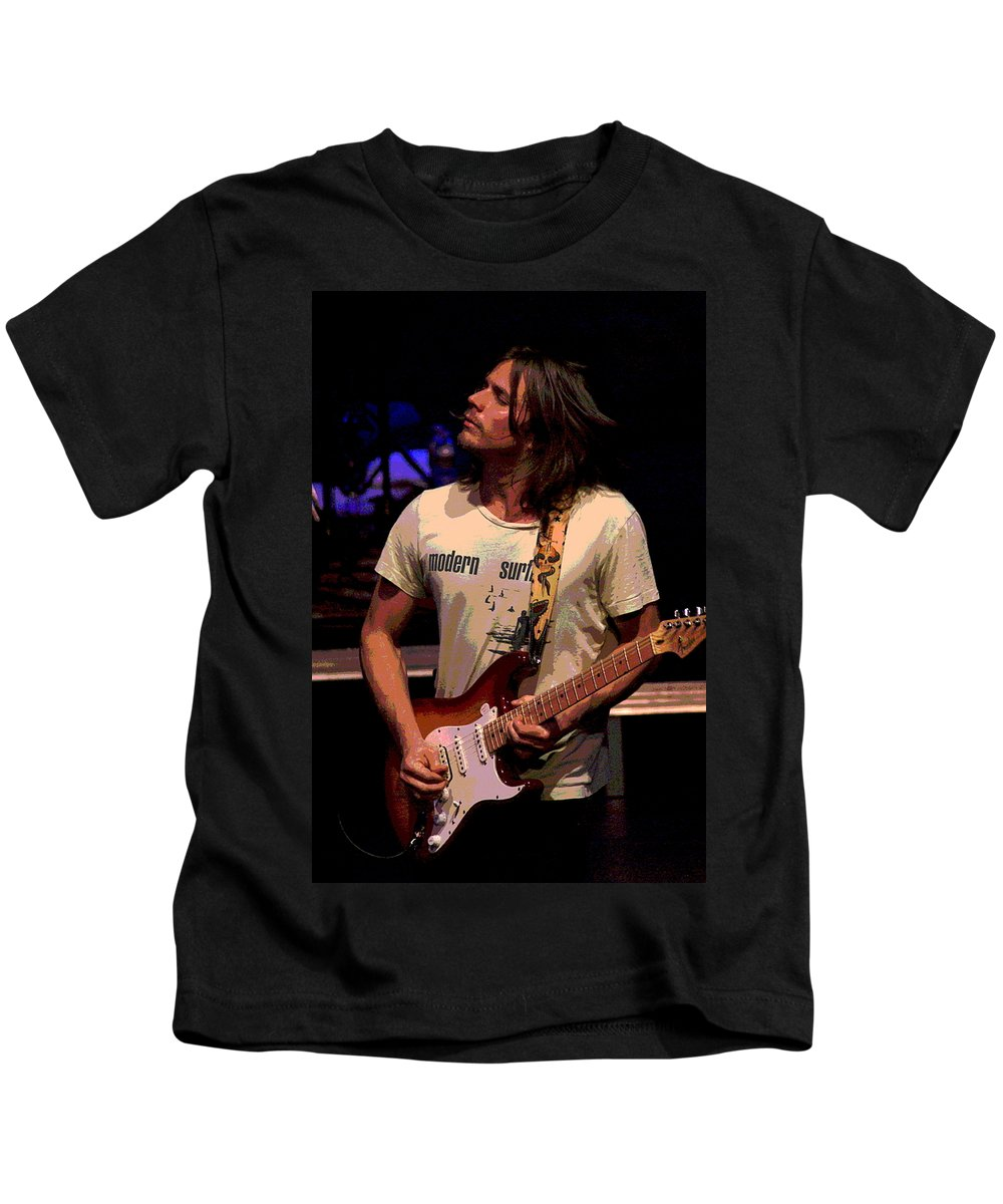 Lukas Nelson Kids T-Shirt featuring the photograph Jamming Lukas 2 by Ben Upham