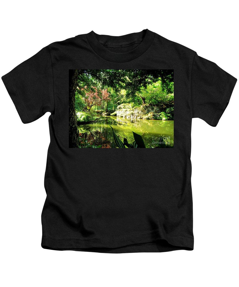 Japanese Kids T-Shirt featuring the photograph Japanese Garden by Jerome Stumphauzer