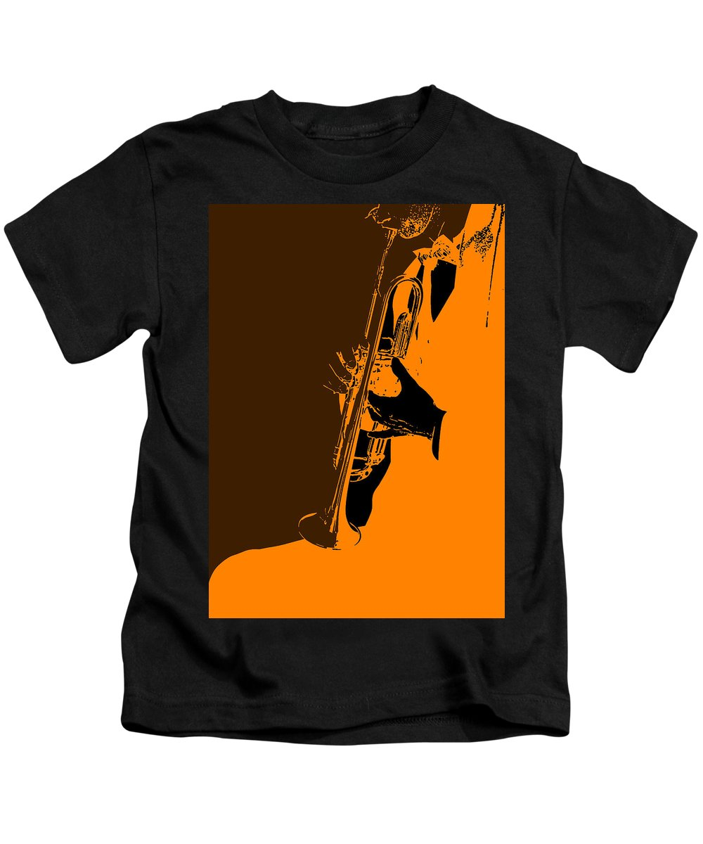 Jazz Kids T-Shirt featuring the photograph Jazz by Naxart Studio