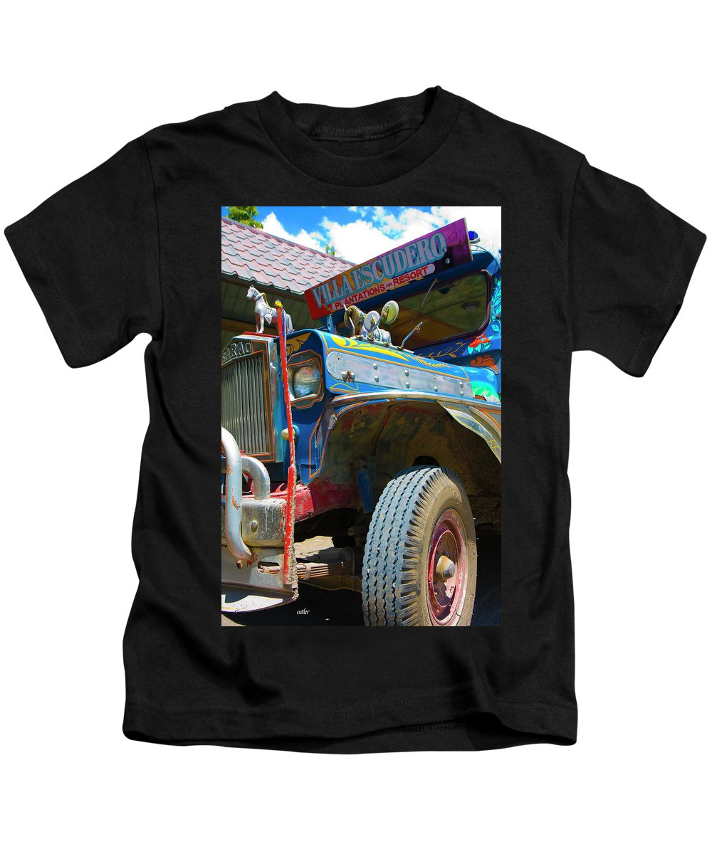 Philippines Kids T-Shirt featuring the photograph Jeepney by Betsy Knapp