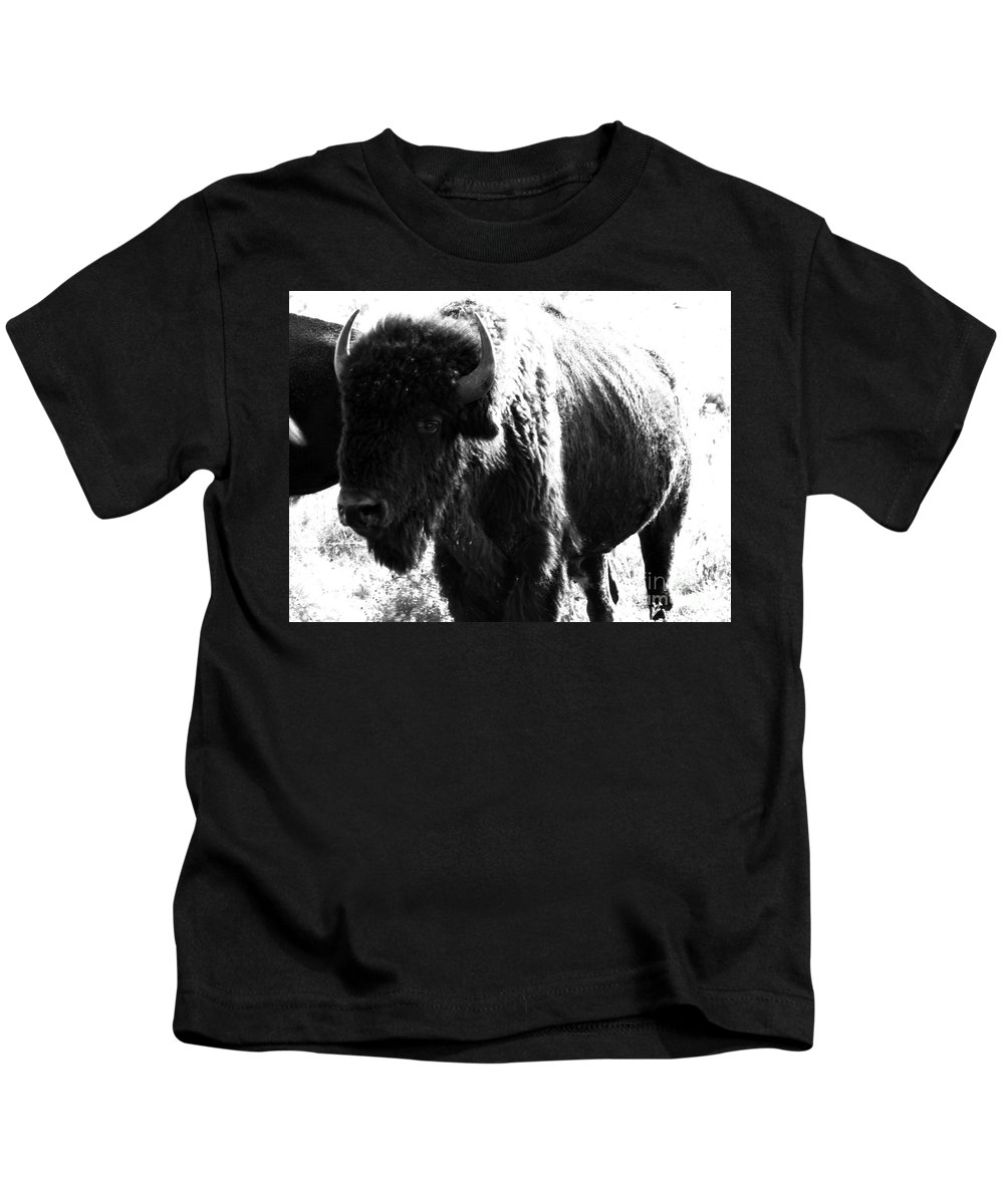 Buffalo Kids T-Shirt featuring the photograph Join The Party by Amanda Barcon