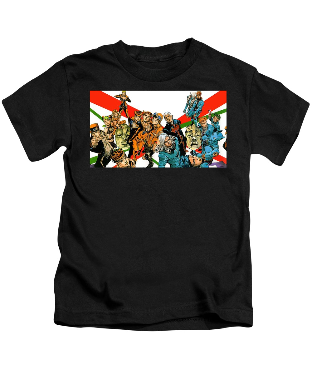 Jojo's Bizarre Adventure Kids T-Shirt featuring the digital art Jojo's Bizarre Adventure by Dorothy Binder