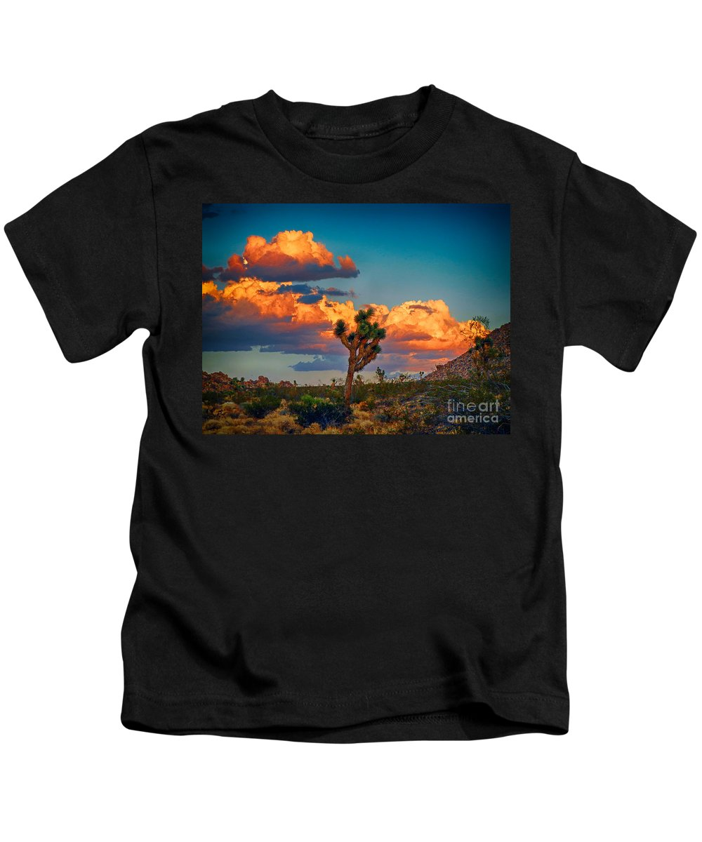 Joshua Kids T-Shirt featuring the photograph Joshua Tree In All Its Beauty by Mariola Bitner