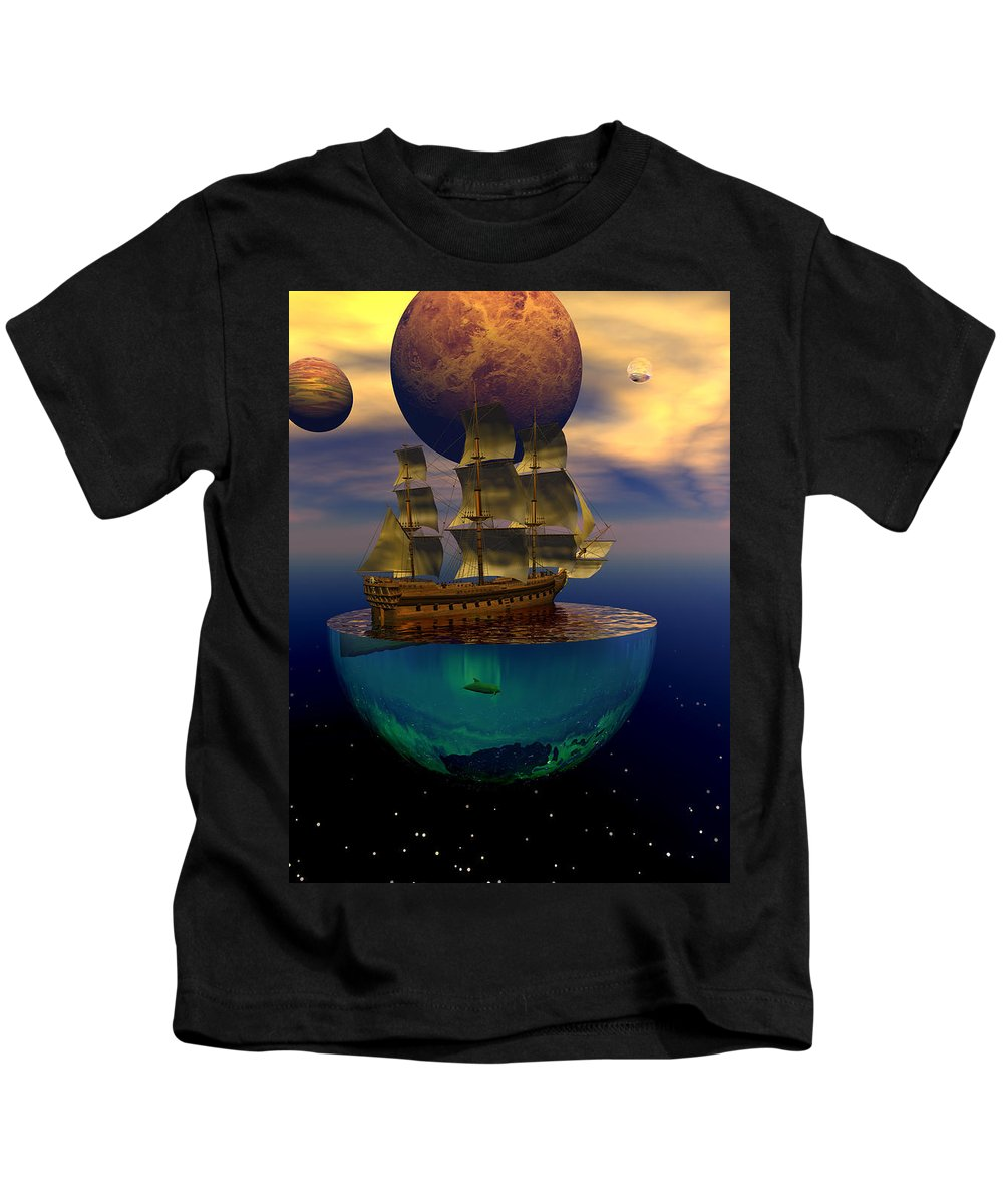 Bryce Kids T-Shirt featuring the digital art Journey Into Imagination by Claude McCoy