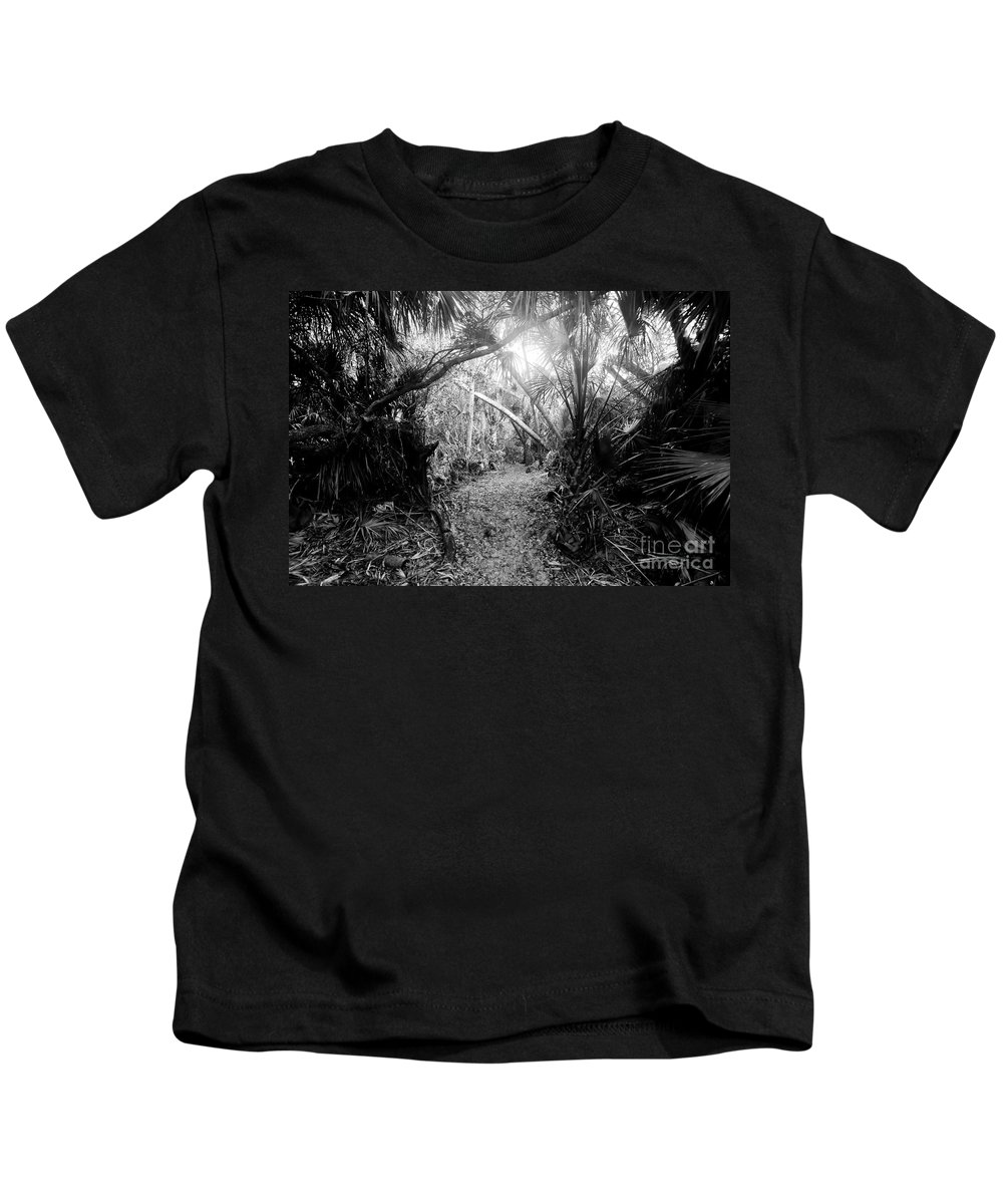 Jungle Kids T-Shirt featuring the photograph Jungle Trail by David Lee Thompson
