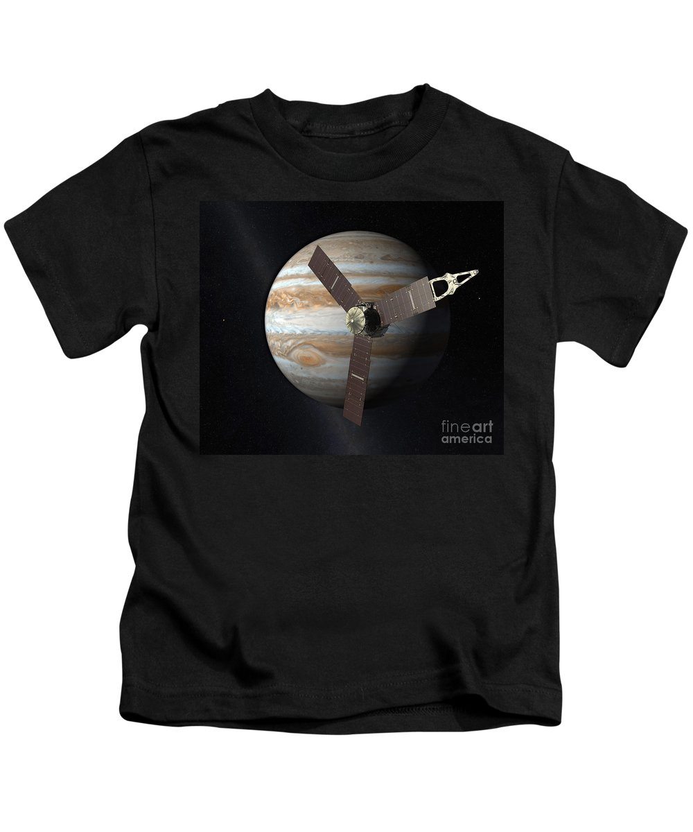 Science Kids T-Shirt featuring the photograph Juno Mission To Jupiter by Science Source