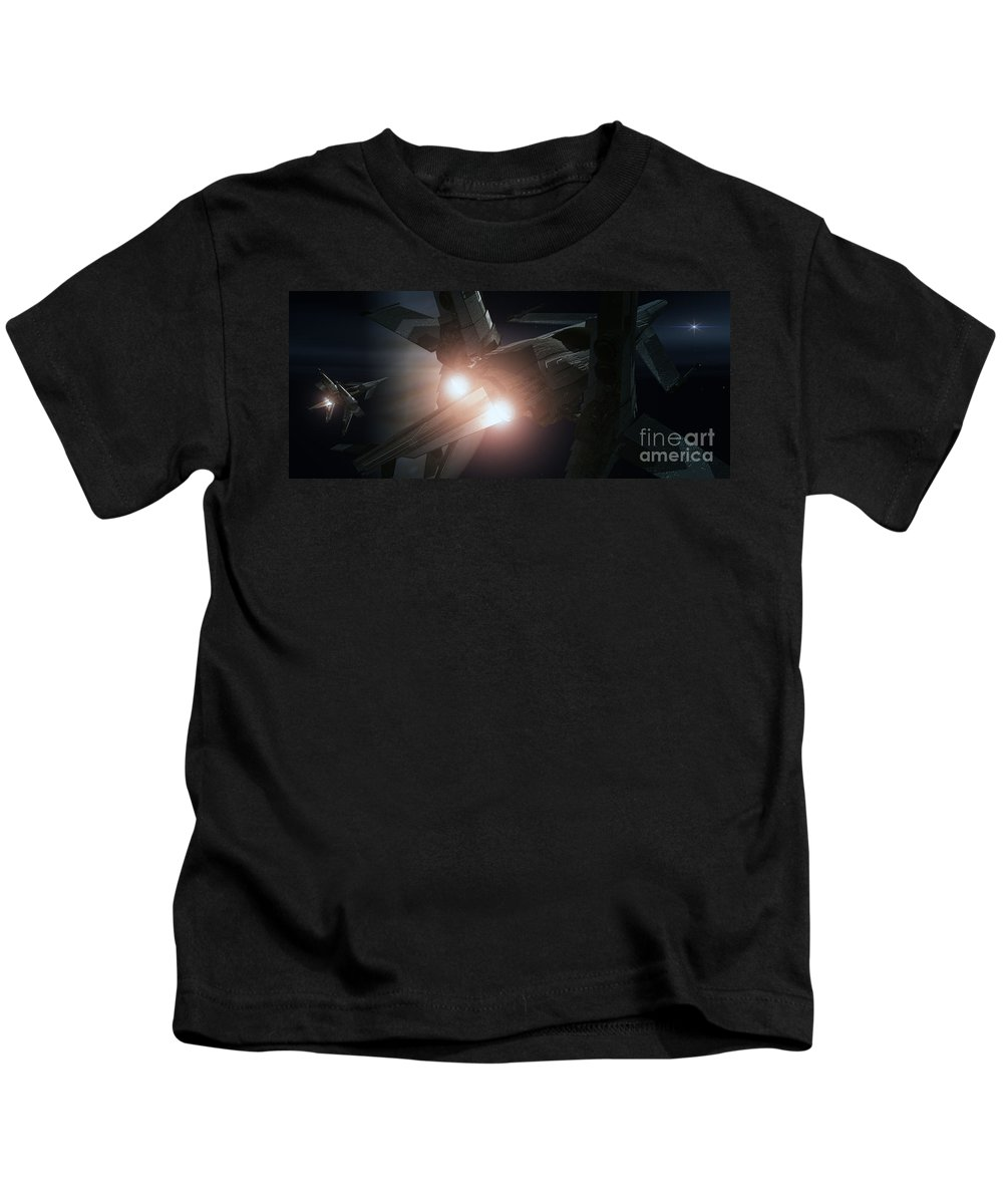 Space Kids T-Shirt featuring the digital art Jupiter Patrol by Richard Rizzo