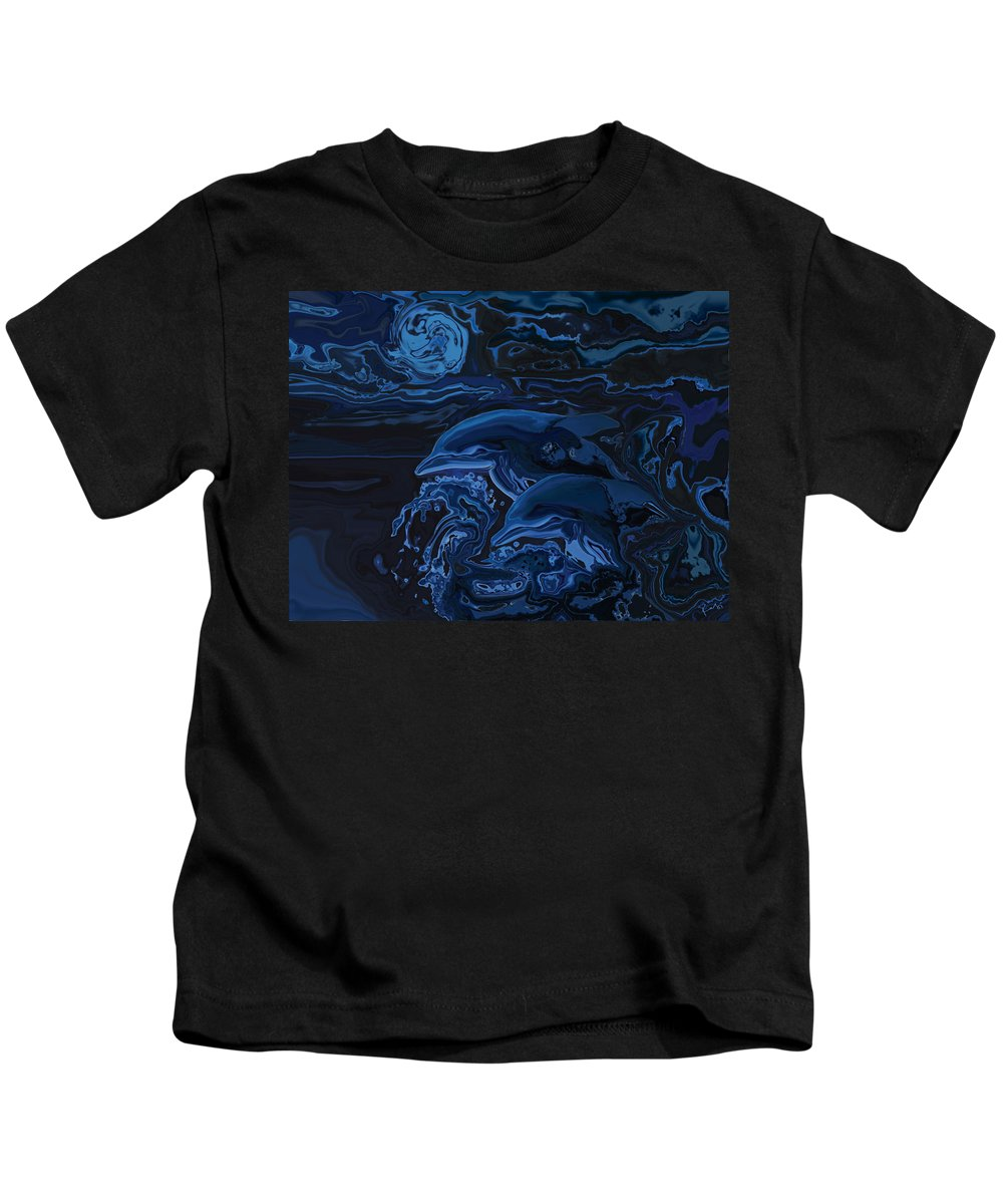 Animal Kids T-Shirt featuring the digital art Just The Two Of Us by Rabi Khan