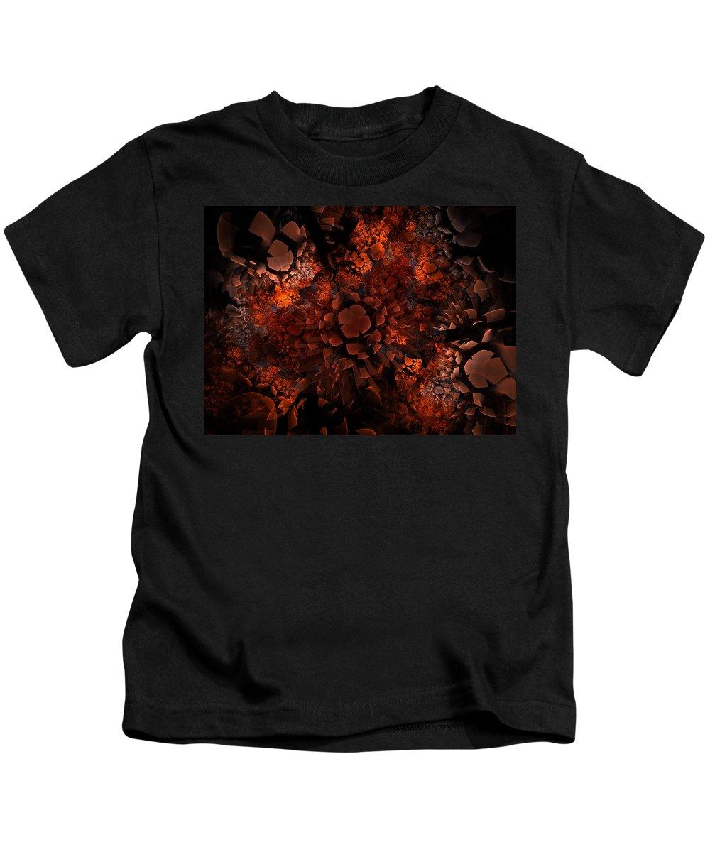 Fractal Kids T-Shirt featuring the digital art Ka-blam-oh by Lyle Hatch