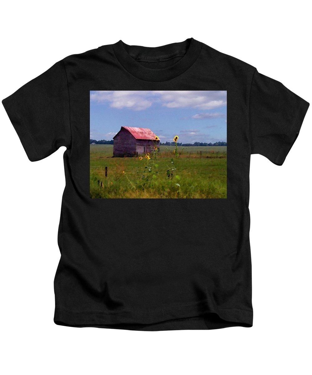 Landscape Kids T-Shirt featuring the photograph Kansas Landscape by Steve Karol
