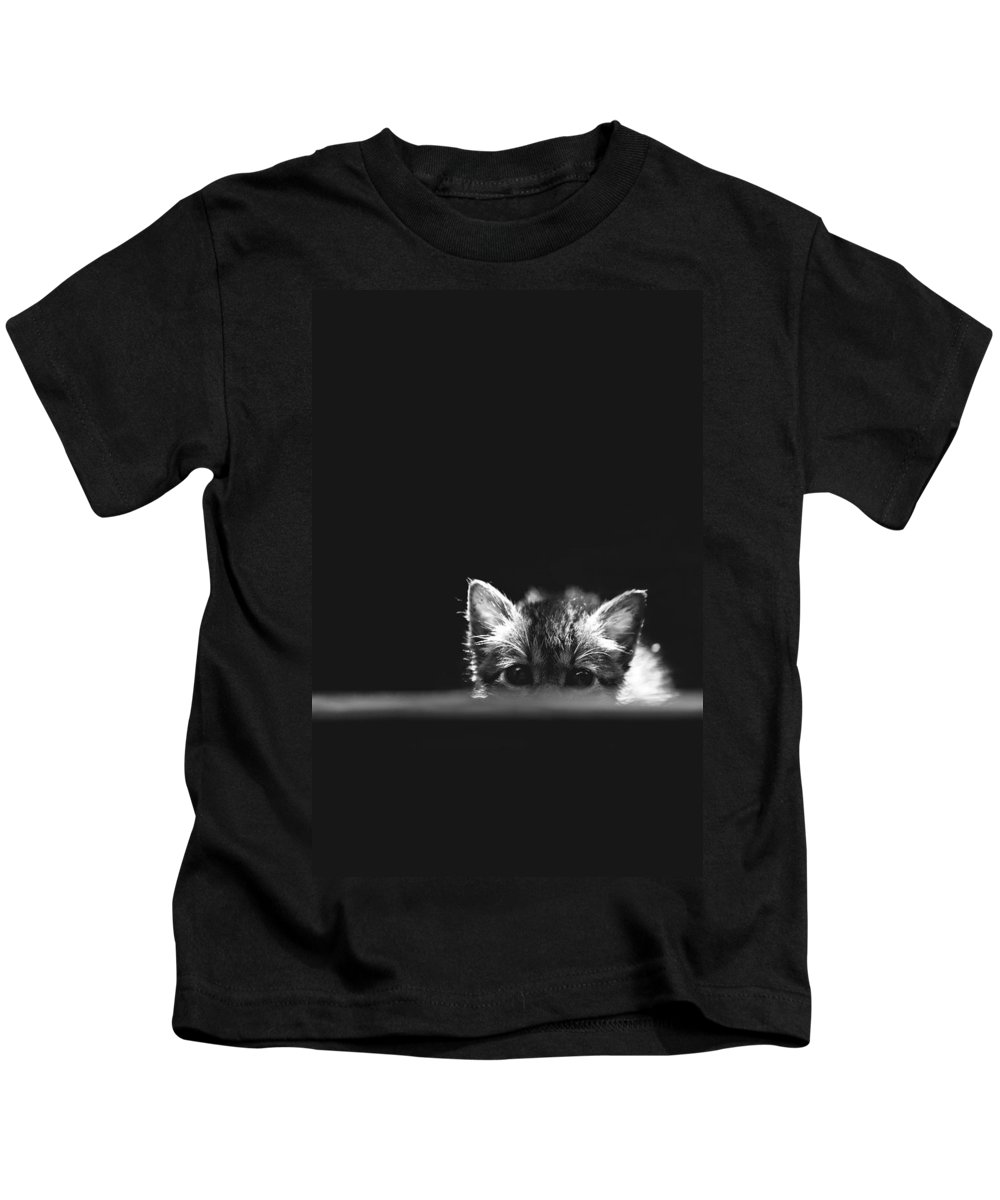 Cat Kids T-Shirt featuring the photograph kat by George Cabig