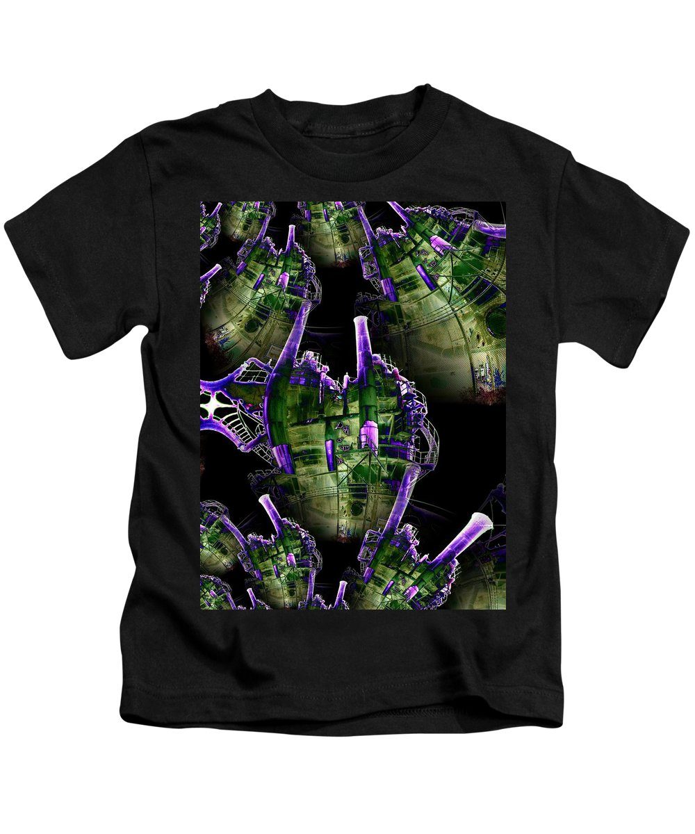 Seattle Kids T-Shirt featuring the digital art Keepers Of The Gasworks by Tim Allen