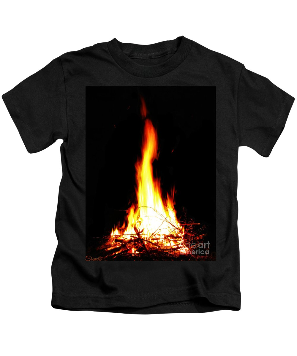 Fire Kids T-Shirt featuring the photograph Kegan by September Stone